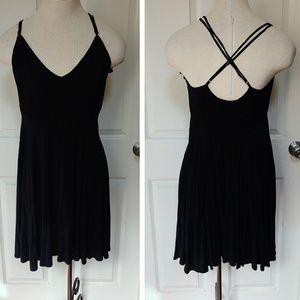 Black crossback skater dress